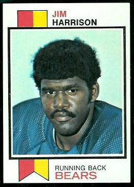Jim Harrison 1973 Topps football card