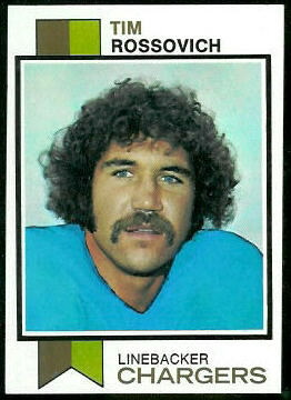 Tim Rossovich 1973 Topps football card