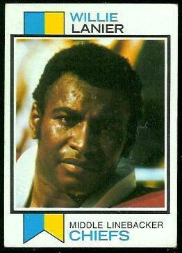 Willie Lanier 1973 Topps football card