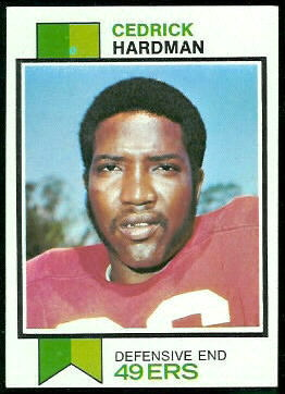 Cedrick Hardman 1973 Topps football card