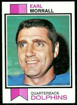 Earl Morrall 1973 Topps football card