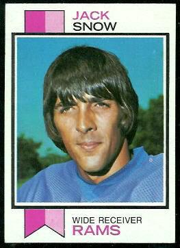 Jack Snow 1973 Topps football card