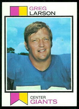Greg Larson - 1973 Topps #418 - Vintage Football Card Gallery