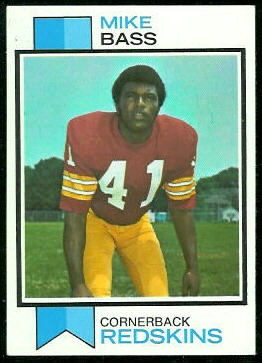 Mike Bass 1973 Topps football card