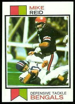 Mike Reid 1973 Topps football card