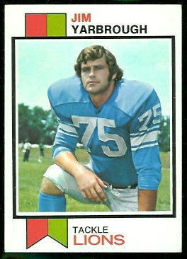 Jim Yarbrough 1973 Topps football card