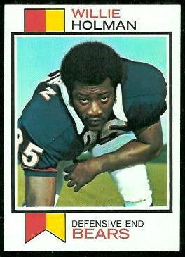 Willie Holman 1973 Topps football card