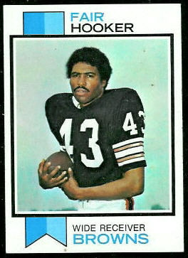 Fair Hooker 1973 Topps football card