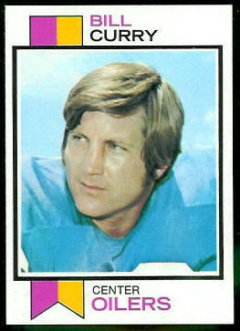Bill Curry 1973 Topps football card