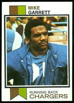 Mike Garrett 1973 Topps football card