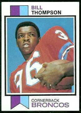 Bill Thompson 1973 Topps football card