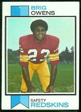 Brig Owens 1973 Topps football card