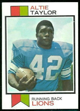 Altie Taylor 1973 Topps football card