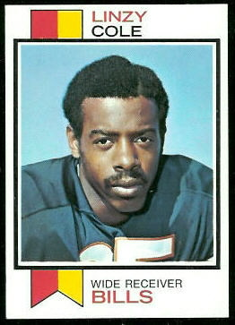 Linzy Cole 1973 Topps football card