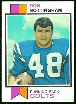 Don Nottingham 1973 Topps football card