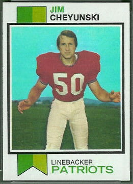 Jim Cheyunski 1973 Topps football card
