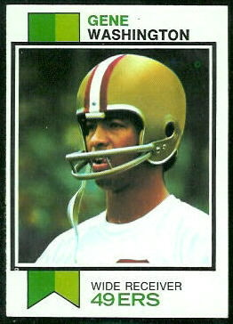 Gene Washington 1973 Topps football card