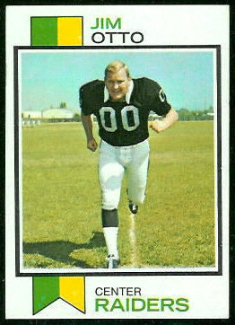 Jim Otto 1973 Topps football card