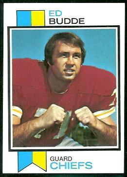 Ed Budde 1973 Topps football card