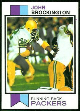 John Brockington 1973 Topps football card