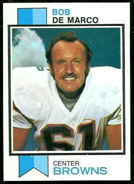 Bob DeMarco 1973 Topps football card
