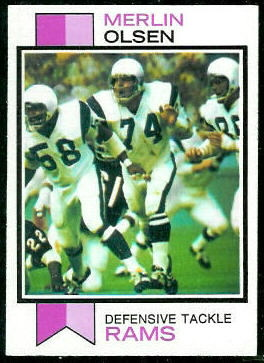 Merlin Olsen 1973 Topps football card