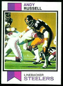 Andy Russell 1973 Topps football card