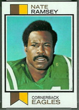 Nate Ramsey 1973 Topps football card