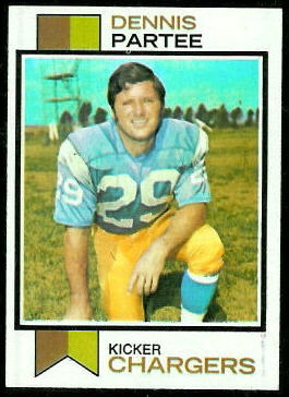 Dennis Partee 1973 Topps football card