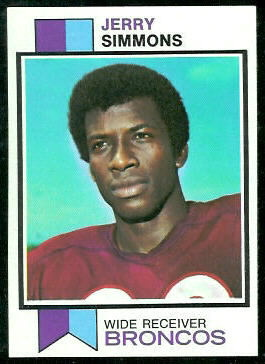 Jerry Simmons 1973 Topps football card