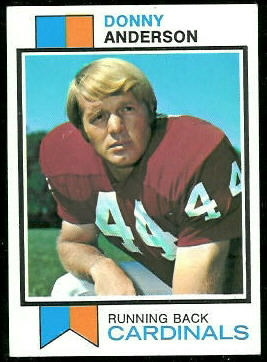 Donny Anderson 1973 Topps football card