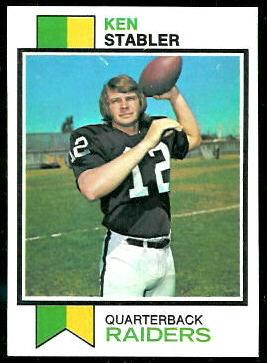Ken Stabler 1973 Topps football card