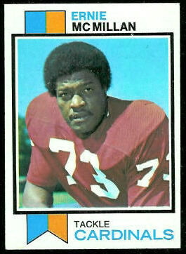 Ernie McMillan 1973 Topps football card
