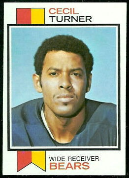 Cecil Turner 1973 Topps football card