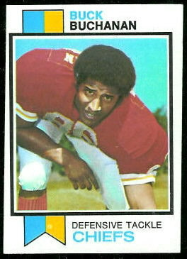Buck Buchanan 1973 Topps football card