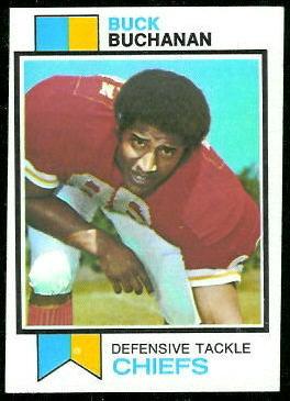 Buck Buchanan 1973 Topps football card