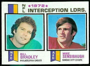 1972 Interception Leaders 1973 Topps football card