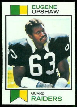 Gene Upshaw 1973 Topps football card