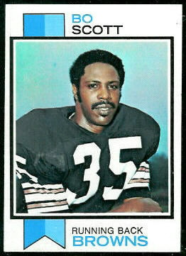 Bo Scott 1973 Topps football card