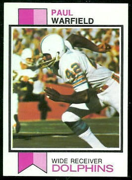 Paul Warfield 1973 Topps football card