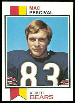 Mac Percival 1973 Topps football card