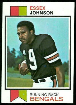 Essex Johnson 1973 Topps football card