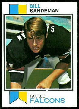 Bill Sandeman 1973 Topps football card