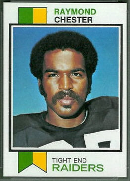 Raymond Chester 1973 Topps football card