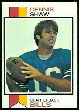 Dennis Shaw 1973 Topps football card