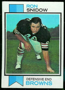 Ron Snidow 1973 Topps football card