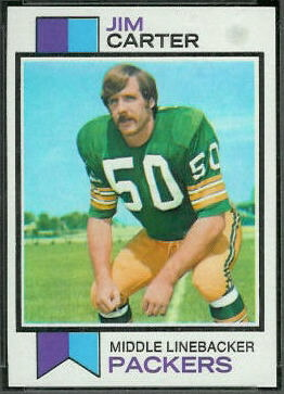 Jim Carter 1973 Topps football card