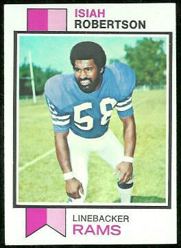 Isiah Robertson 1973 Topps football card