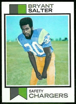 Bryant Salter 1973 Topps football card