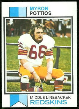 Myron Pottios 1973 Topps football card
